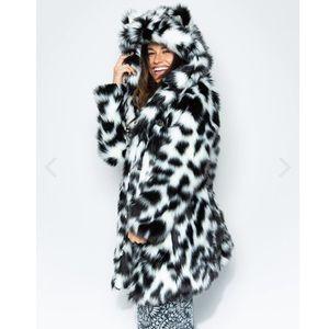 4baaf3a477 SpiritHoods Jackets & Coats | Grey Wolf Faux Fur Crop Jacket | Poshmark